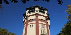 Das Bild zeigt den Wasserturm in Mönchengladbach. Ein Standort des Endomedicums. MVZ für Innere Medizin & Hormon- und Stoffwechselerkrankungen